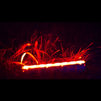 Colored light in the grass