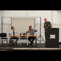 Danish politicians debating at BornHack 2016